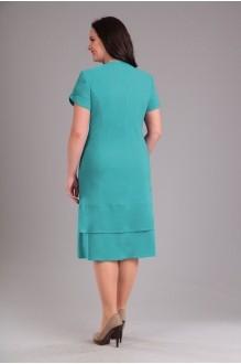 Повседневное платье Эола-стиль 1232 бирюза фото 2