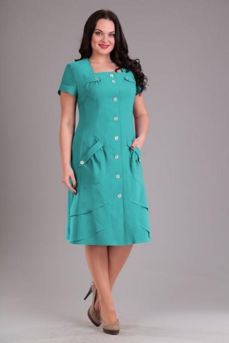 Повседневное платье Эола-стиль 1232 бирюза