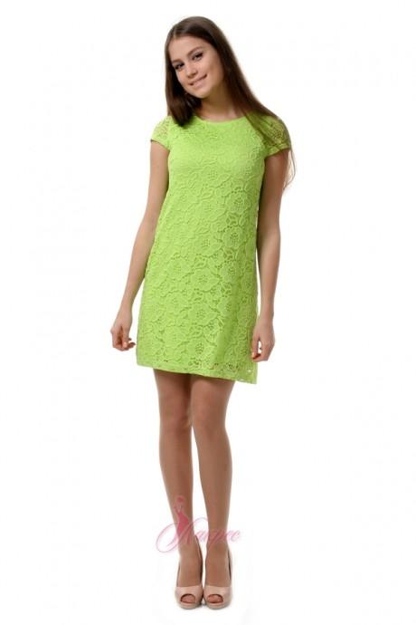 Короткое платье Лакрес М-134 салатовый