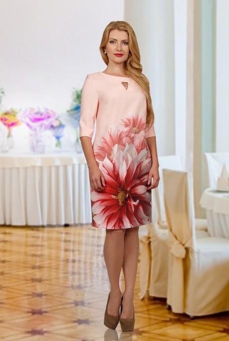 Повседневное платье Мишель Стиль 516 светло-розовый
