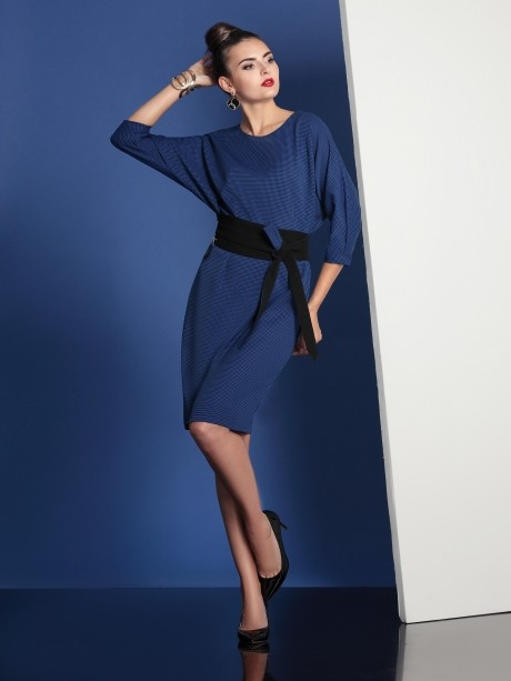 Повседневное платье Твой Имидж 4028 синий