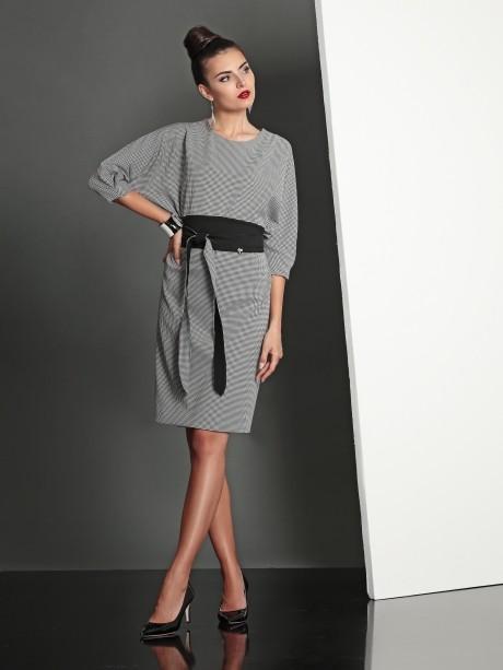 Повседневное платье Твой Имидж 4028 серый