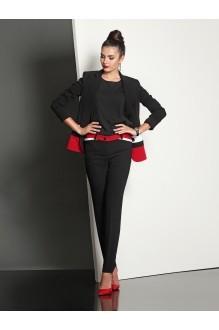 Брючный костюм /комплект Твой Имидж 4031 черно-красный фото 2