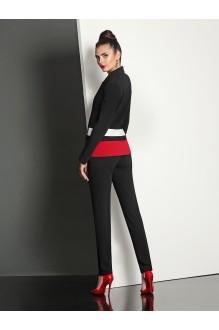 Брючные костюмы /комплекты Твой Имидж 4031 черно-красный фото 3