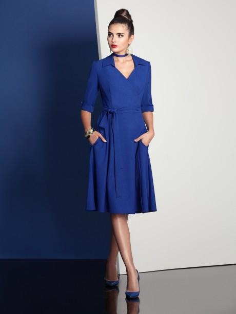 Повседневное платье Твой Имидж 4049 василек