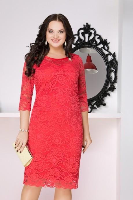 Вечернее платье LeNata 11607 коралл