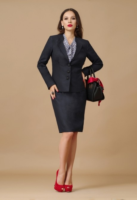 Юбочный костюм /комплект Lissana 2505 темно-серый