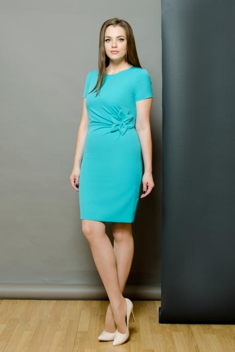 Повседневное платье Moda-Versal П-1462 бирюза