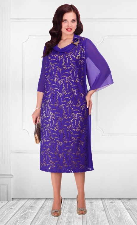 Вечернее платье Camelia 15156 фиолетовый