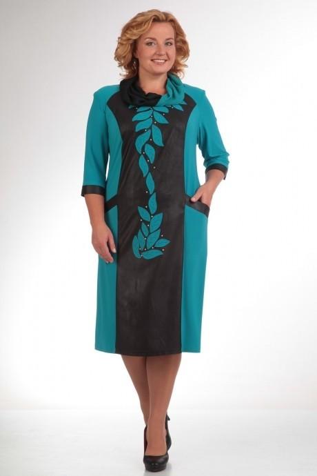 Повседневное платье Прити 466 бирюза