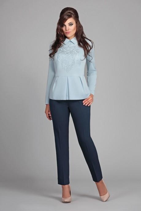 Брючный костюм /комплект Мублиз 022 голубой + синий