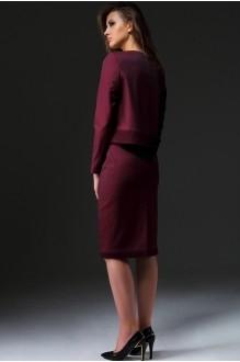 Юбочный костюм /комплект Nova Line 1642.3403 бордовый фото 2