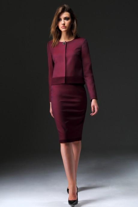 Юбочный костюм /комплект Nova Line 1642.3403 бордовый