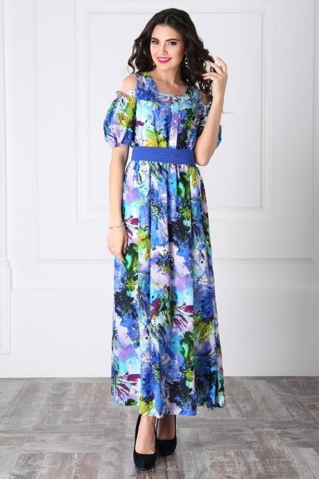 Длинное платье ЛаКона 955 василек