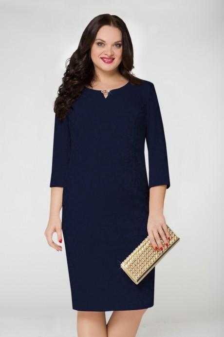 Вечернее платье LeNata 11590 т.синий
