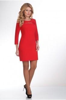 Вечерние платья Нинель Шик 795 красный фото 1