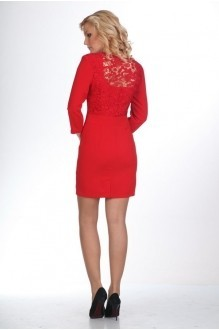 Вечерние платья Нинель Шик 795 красный фото 2