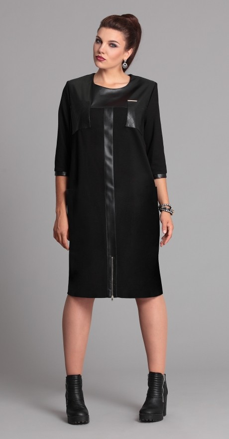 Повседневные платья Галеан-стиль 526 черный