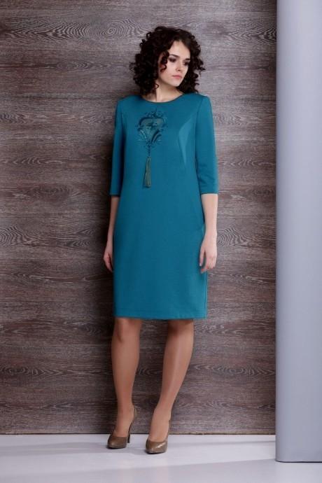 Повседневное платье Golden Vallеy 4195-1 темно-лазурный