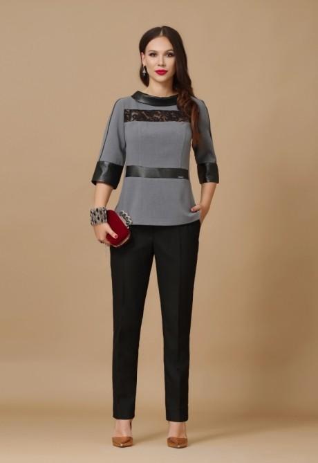 Брючные костюмы /комплекты Lissana 2881 серый/черный