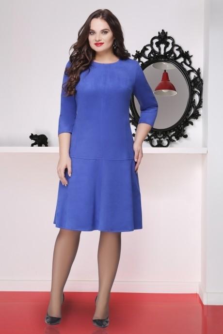 Повседневное платье LeNata 11696 василек