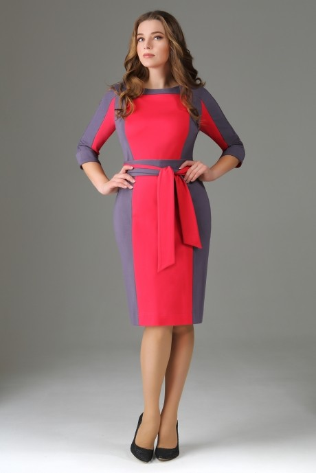 Повседневное платье AXXA 53981 малина