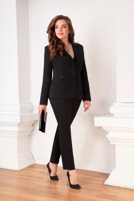 Брючный костюм /комплект Ksenia Stylе 1309 черный