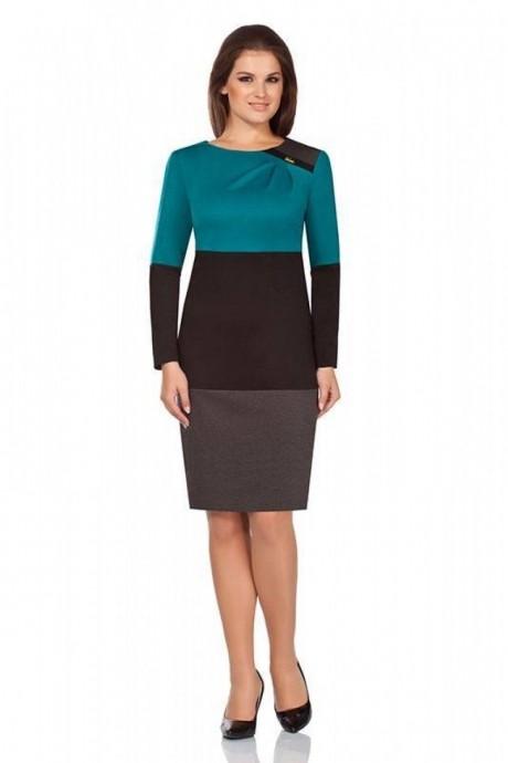 Повседневное платье Bonna Image 13-041 бирюза + черный
