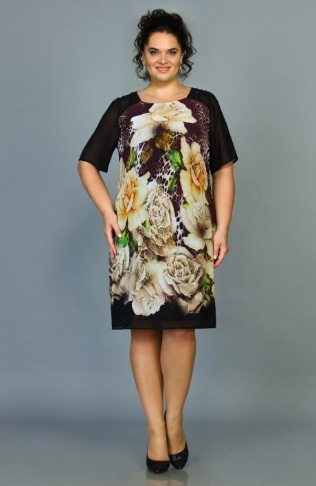 Повседневные платья ALANI COLLECTION 380 бежевые цветы