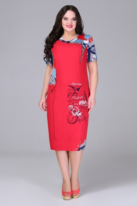 Повседневное платье Bonna Image 13-205 красный