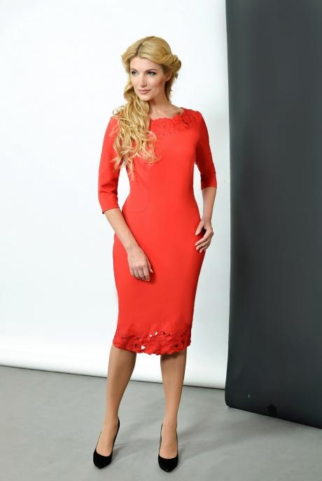 Деловое платье SandyNa 13204 (1) красный