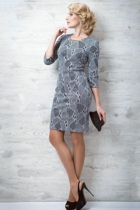 Повседневное платье SandyNa 1356 серый