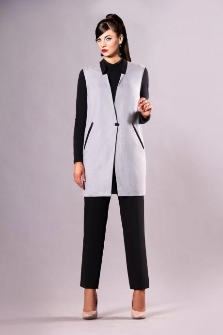 Брючные костюмы /комплекты Runella 1162 (2) серый/черный