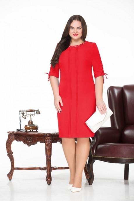 Повседневное платье Нинель Шик 225 красный