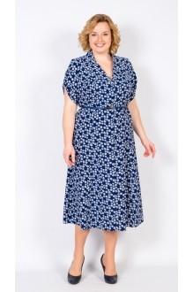 Повседневные платья TricoTex Style 2416 цветы на темно-синем фото 1