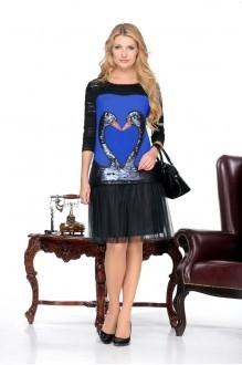 Повседневное платье Нинель Шик 5432 василек фото 1