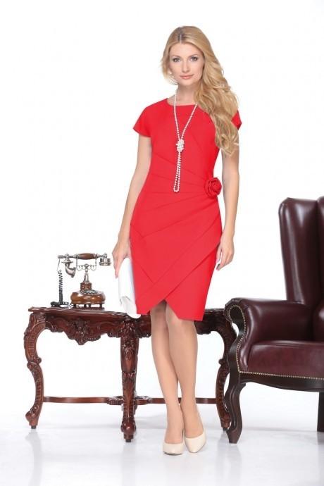 Вечернее платье Нинель Шик 5424 красный