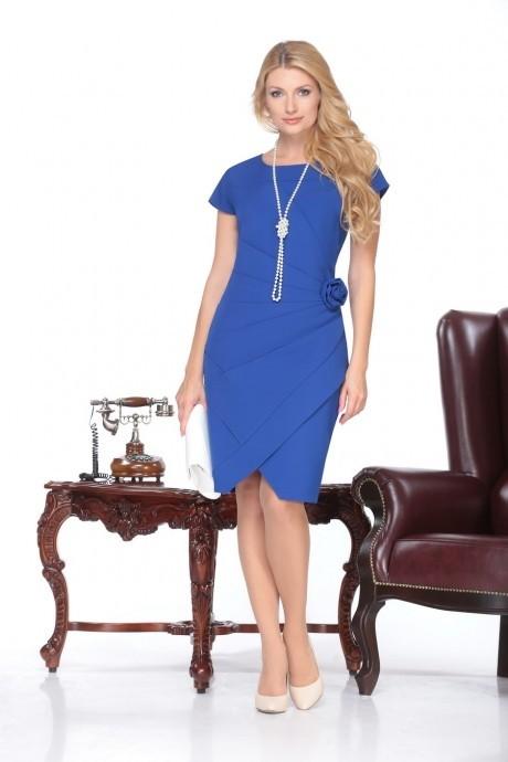 Вечернее платье Нинель Шик 5424 василёк