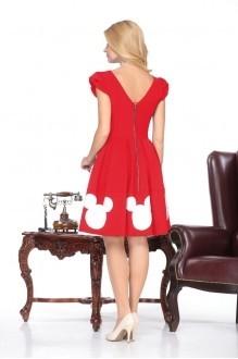 Юбочный костюм /комплект Нинель Шик 5437 белый/красный фото 3