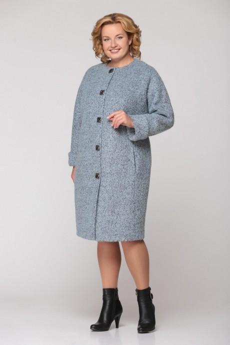 Пальто Надин-Н 1308 серо-голубой