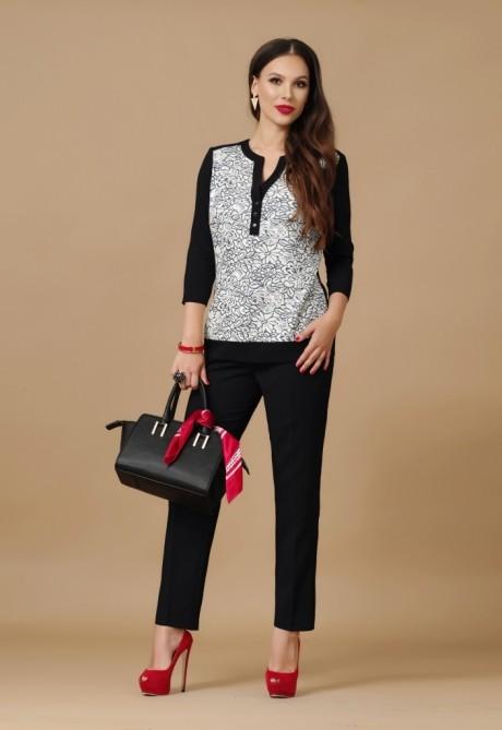 Брючный костюм /комплект Lissana 2887 черный