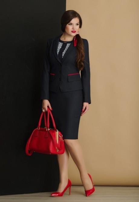 Юбочный костюм /комплект Lissana 2892 ромбы