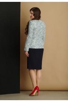 Юбочный костюм /комплект Lissana 2897 синий фото 2