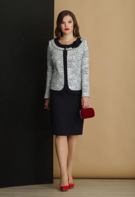 Юбочный костюм /комплект Lissana 2897 синий