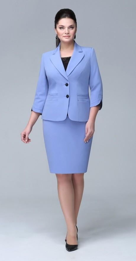 Юбочный костюм /комплект ЛаКона 921 юб голубой