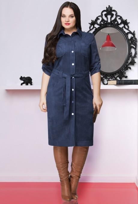 Повседневное платье LeNata 11635 темно-синий