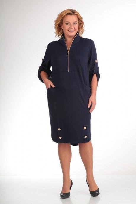 Повседневное платье Прити 473 темно-синий