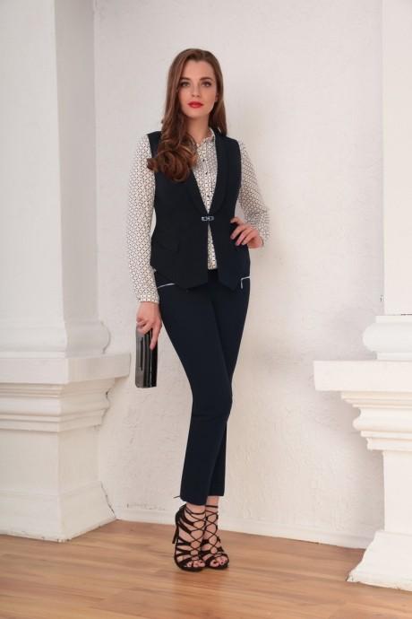 Брючные костюмы /комплекты Ksenia Stylе 1312 темно-синий