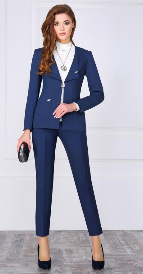 Брючный костюм /комплект ЛаКона 972 Б синий