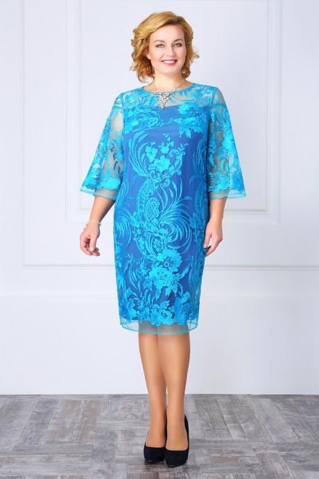 Вечернее платье ЛаКона 969 бирюза/фиолет